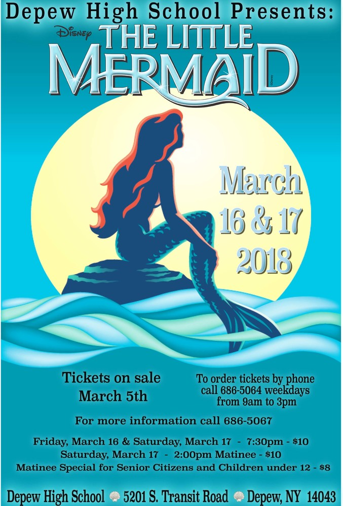 Disney's the Little Mermaid to be put on at Depew High School