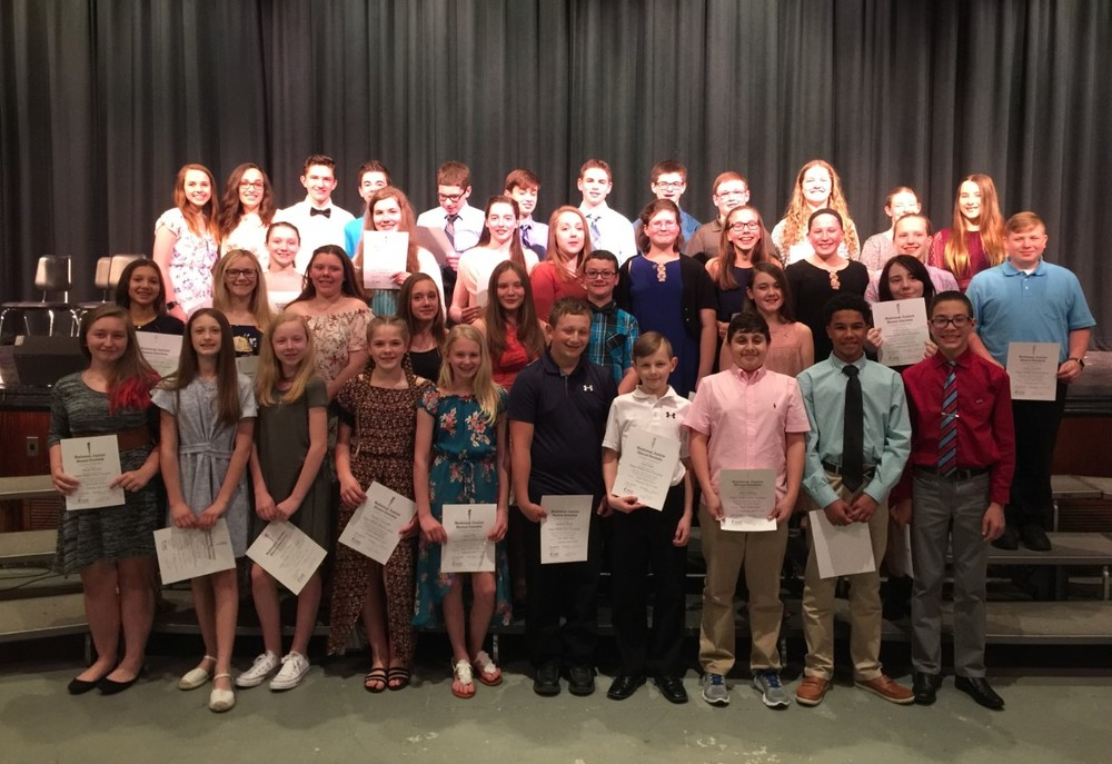 National Junior Honor Society New Member Induction and 2-Year Recognition Ceremony