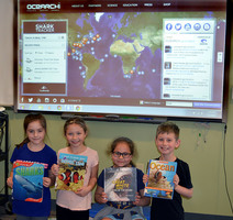 Third graders sink their teeth into shark tracking