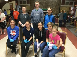 DHS Leo Club assemble birthing kits