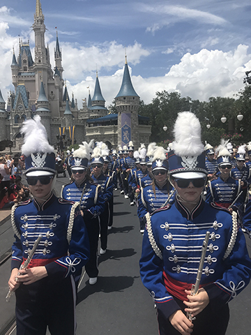 No rain on High School Marching Band's Disney parade