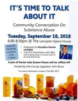 Community Forum on Substance Abuse Sept. 18