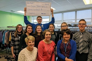 DHS IMPACT Team Presents Check to Depew Threads