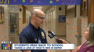 Channel 7 was in the district for the First Day of School