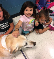 Honey the Therapy Dog Visits CHE