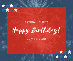 Cayuga Heights July 1-5, 2020 Birthdays
