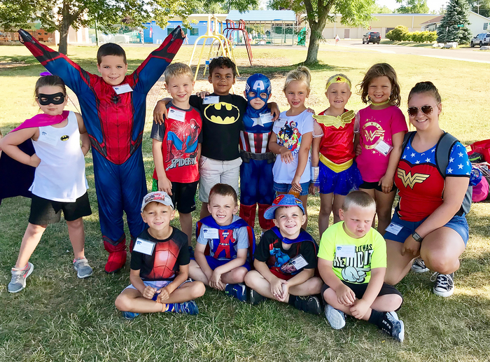 Week two's theme was super heroes!