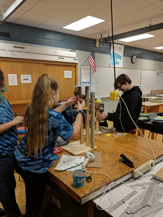 DMS Technology students create a Rube Goldberg Machine