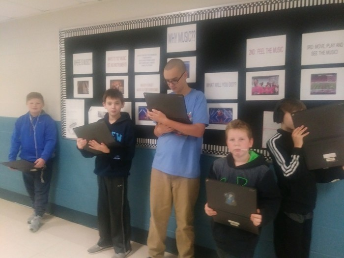 Gr. 6 Music learn through QR codes
