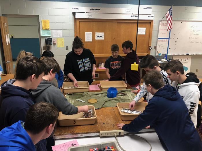Grade 8 Students test boat designs