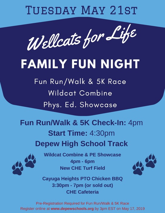 Wellcats Family Fun Night poster