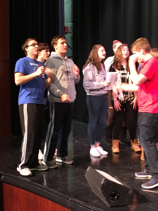 Depew students get in on the act.