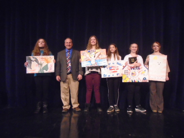 Poster winners and Art Director Joseph Pagano.