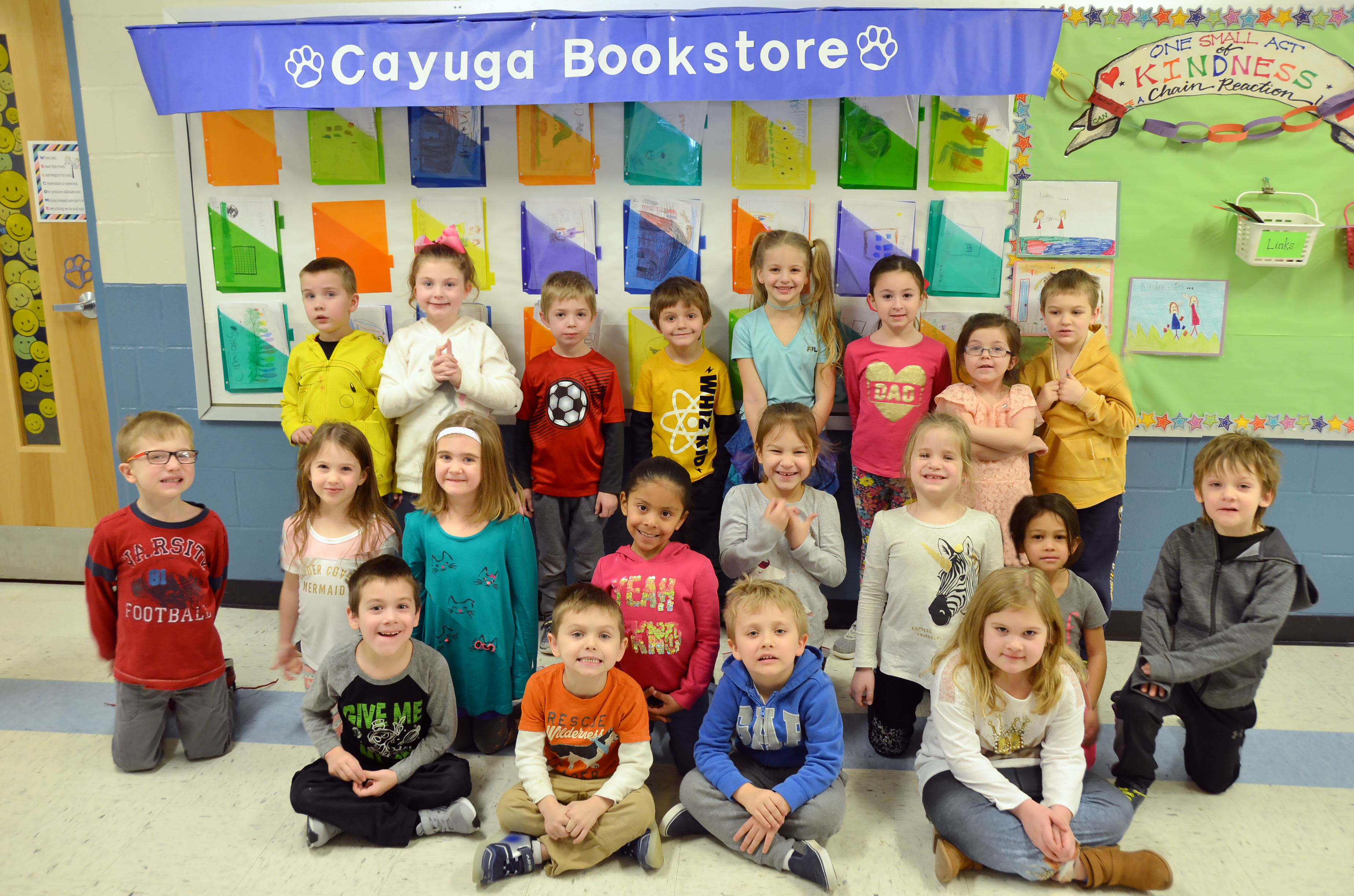 Cayuga Students open their own bookstore.