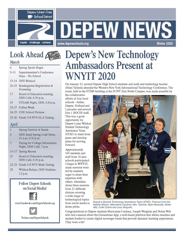 Winter 2020 District Newsletter Cover
